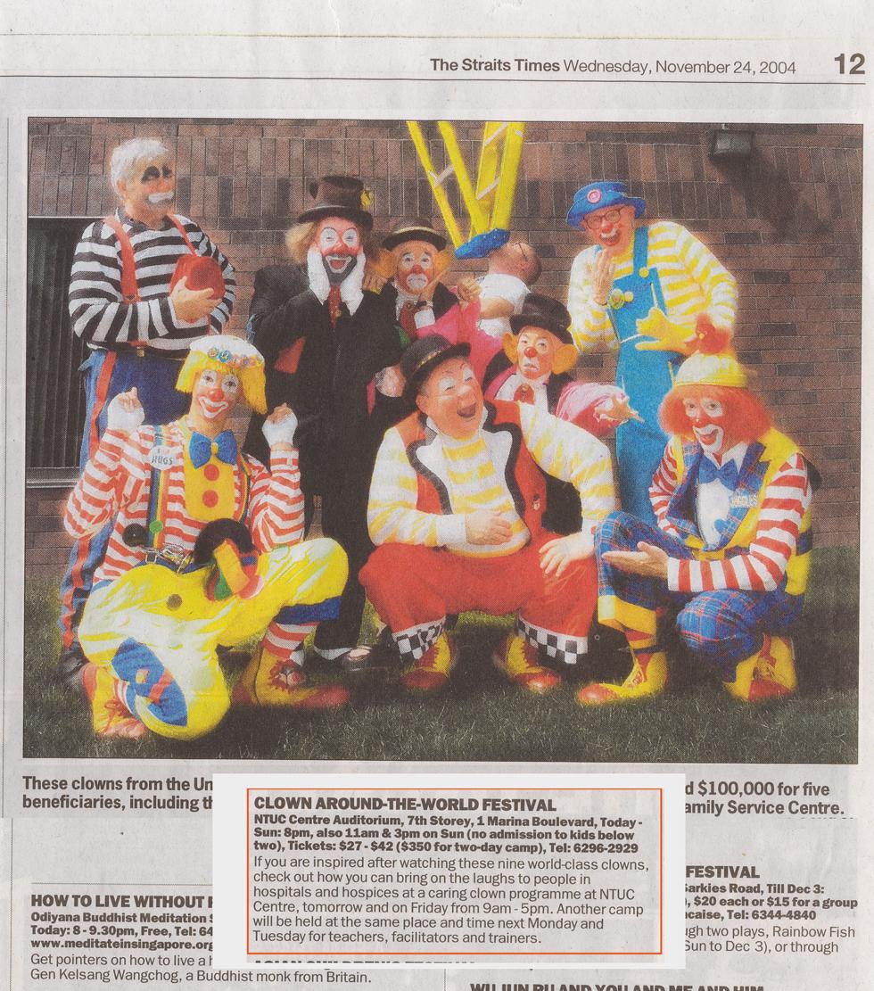 2004年11月24日 ストレート・タイムズ
